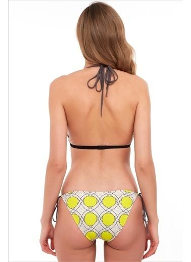Ayyıldız Kadın Üçgen Kesimli Bikini Takımı 1566 Sarı